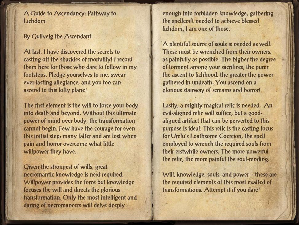 Ascendancy: Pathway to Lichdom