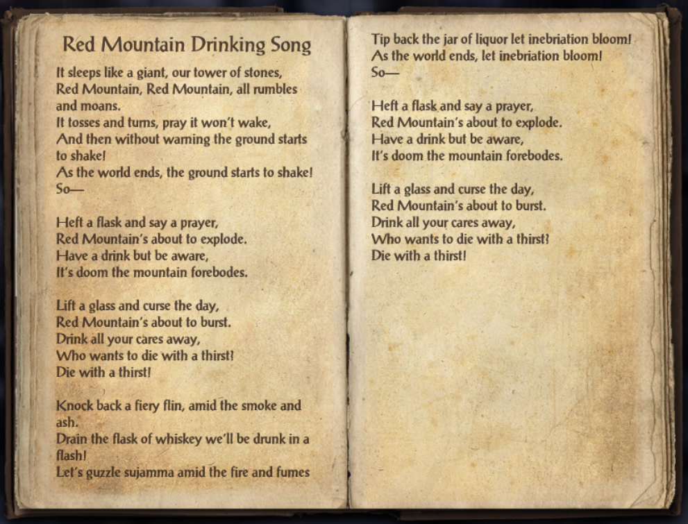 Red Mountain Drinking Song