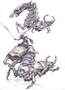 Falmer ujeżdzający Chaurusa 3 (Conceptart) by Adam Adamowicz