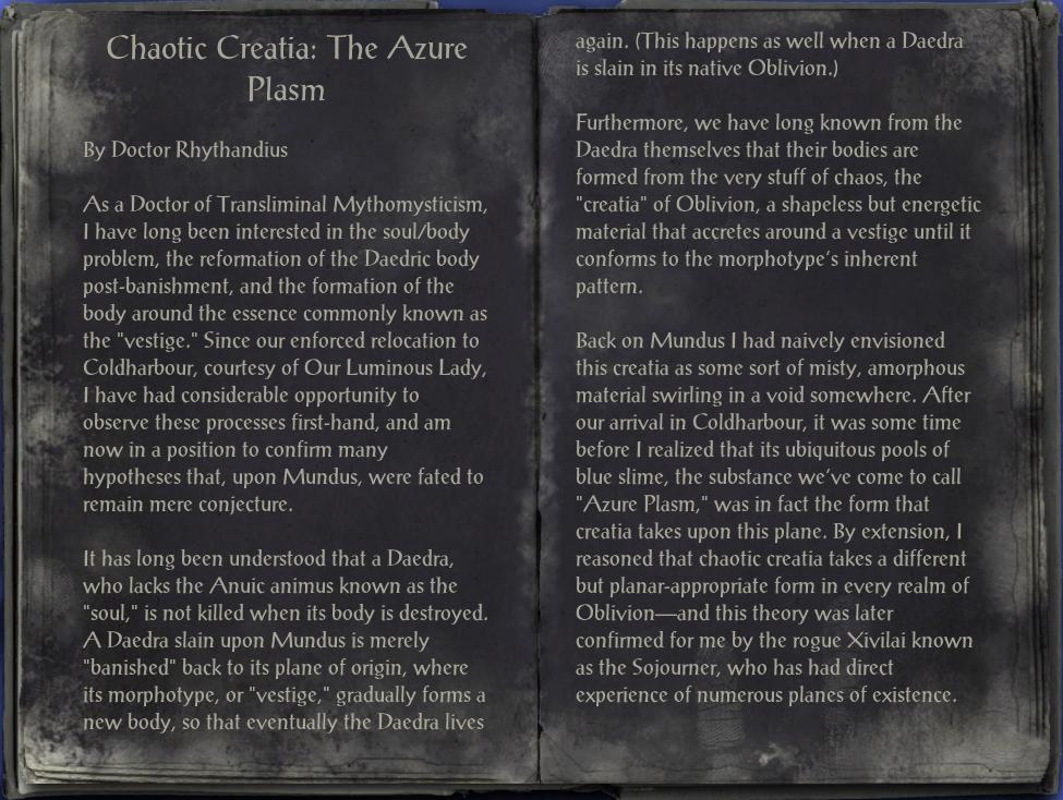 Chaotic Creatia: The Azure Plasm