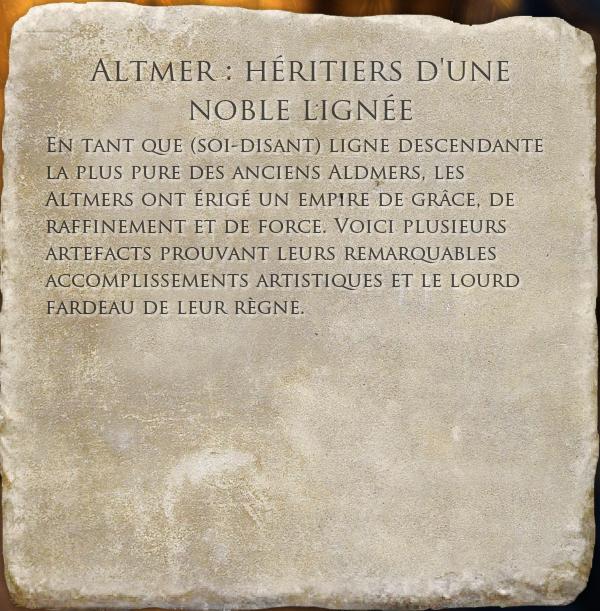 Altmer : héritiers d'une noble lignée
