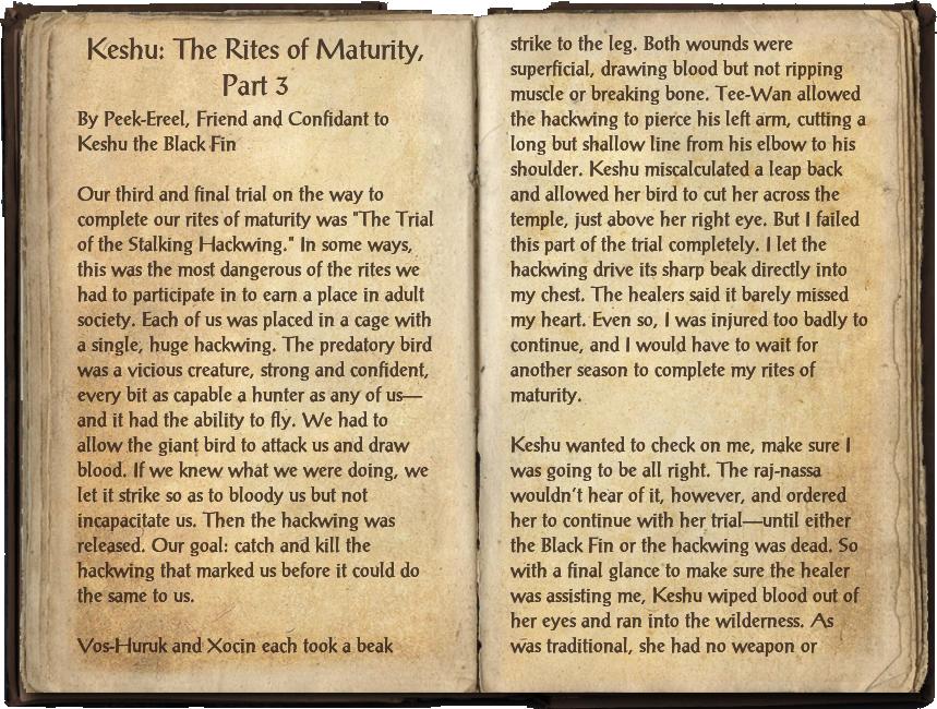 Keshu: The Rites of Maturity, Part 3
