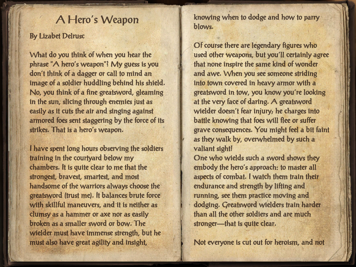 A Hero's Weapon