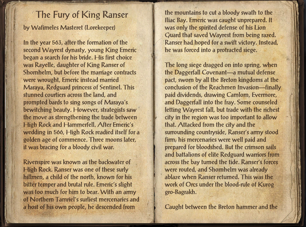 The Fury of King Ranser