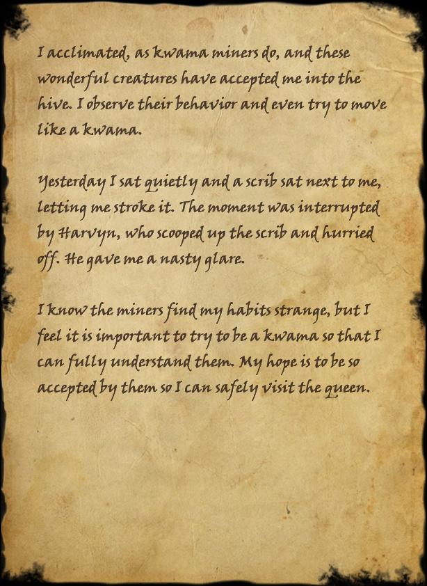 My Kwama Journal, Page 2
