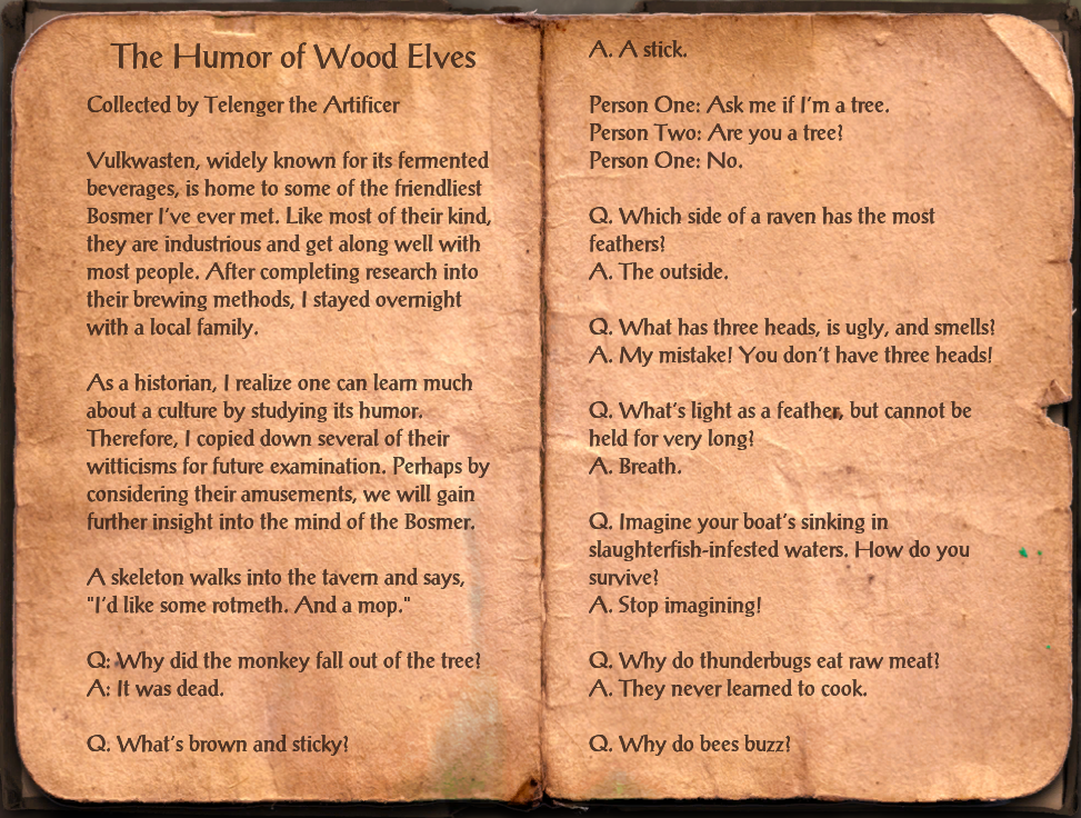 The Humor of Wood Elves