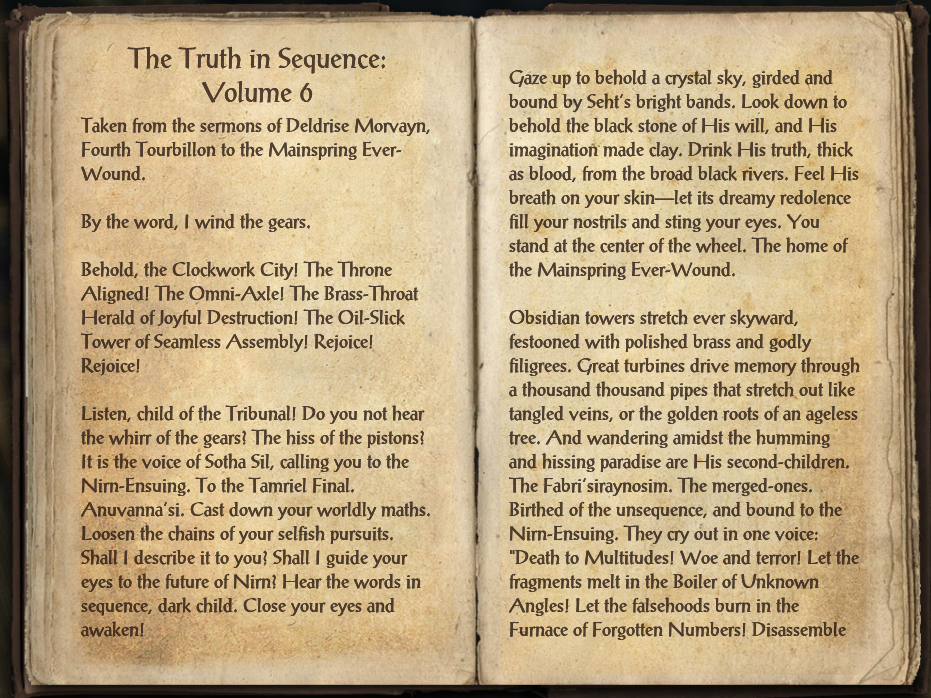 The Truth in Sequence: Volume 6