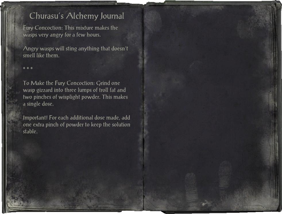 Churasu's Alchemy Journal