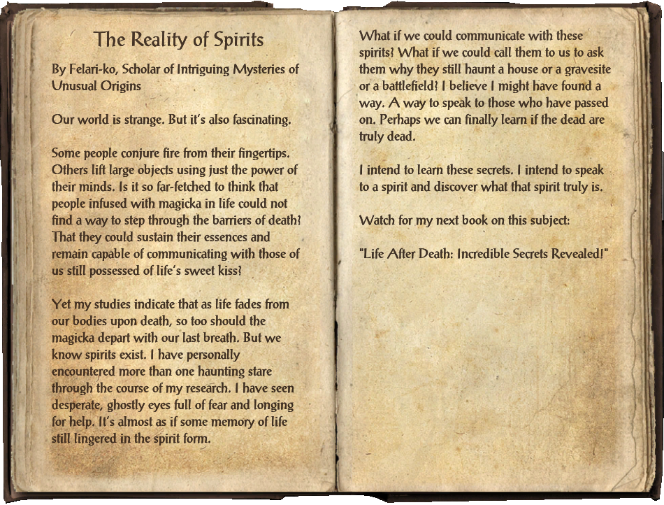 The Reality of Spirits