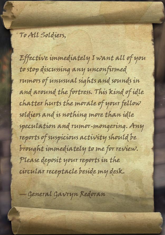 General Redoran's Dispatch