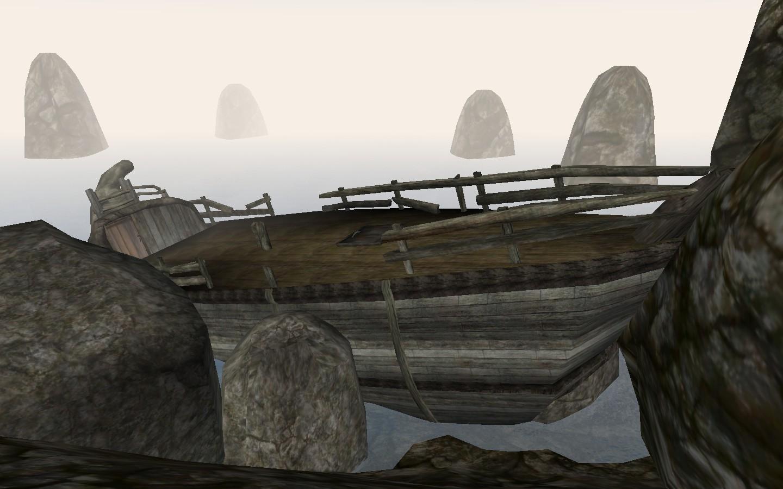 Покинутые обломки судна