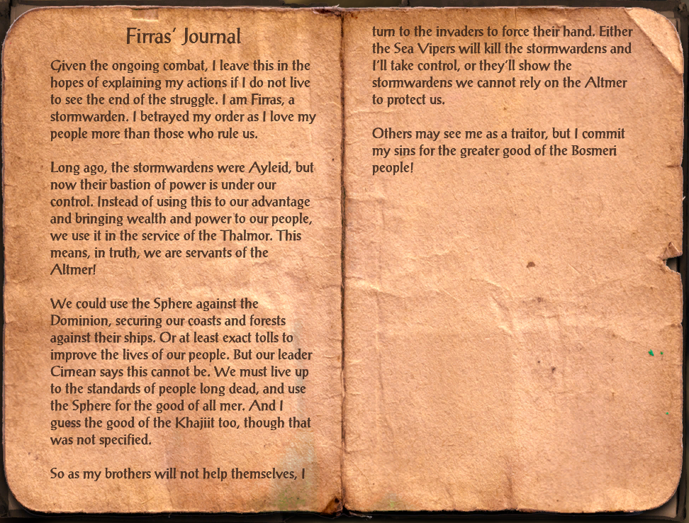Firras' Journal