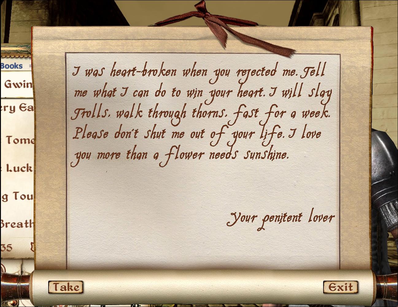 Letter (Oblivion)