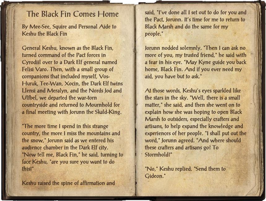 The Black Fin Comes Home