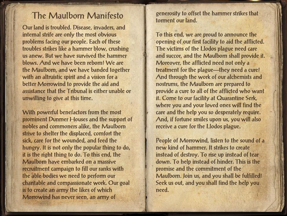 The Maulborn Manifesto