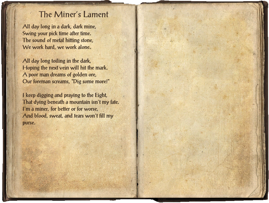 The Miner's Lament (Book)