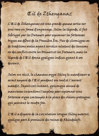 Œil de Zthenganaz (Livre)