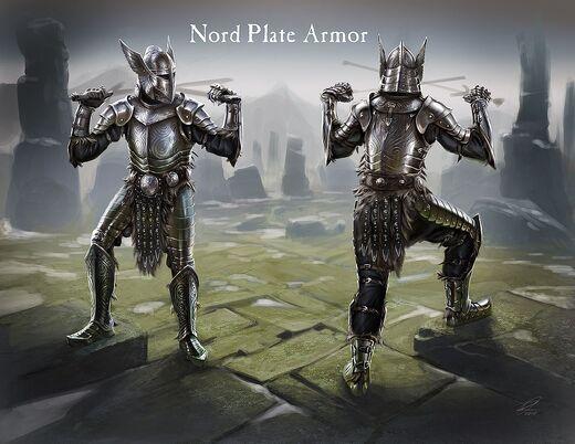 Стальная пластинчатая броня - Концепт арт