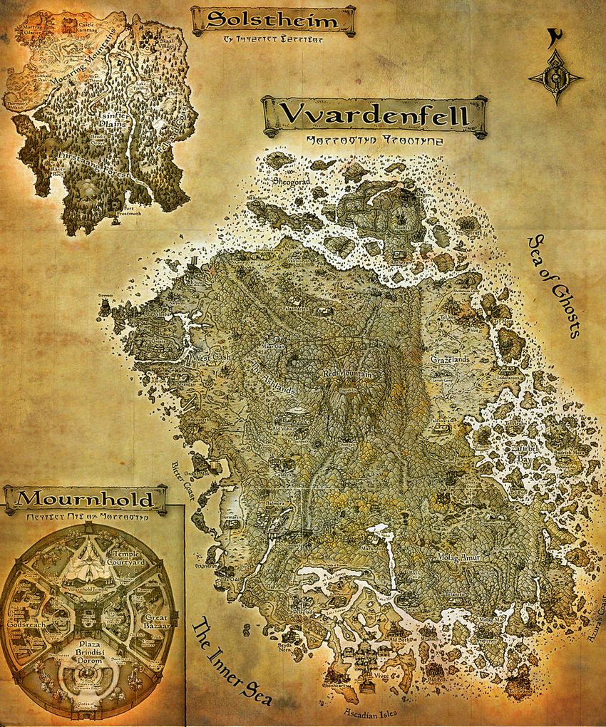 Morrowind Regions Map.png