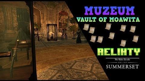 ESO Summerset The Vault of Moawita. Szukamy Reliktów do muzeum.