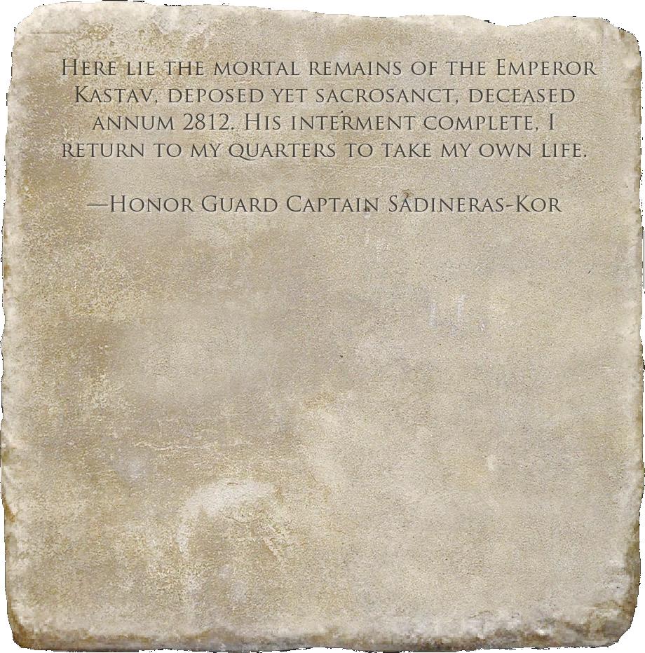 Emperor Kastav's Epitaph