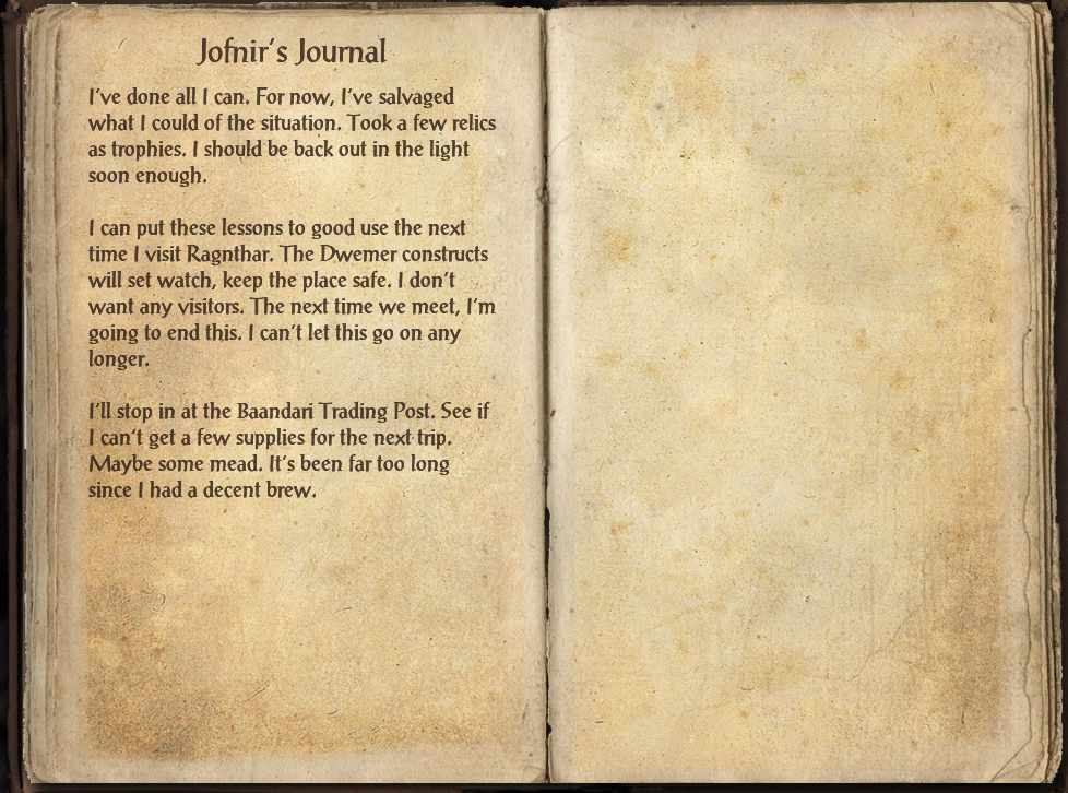 Jofnir's Journal (Vulkwasten)