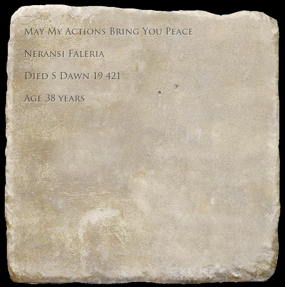 Epitaph for Neransi Faleria