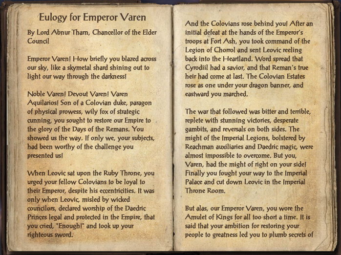 Eulogy for Emperor Varen