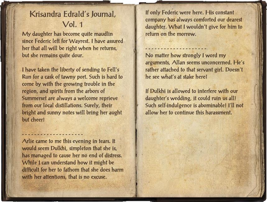 Krisandra Edrald's Journal, Vol. 1