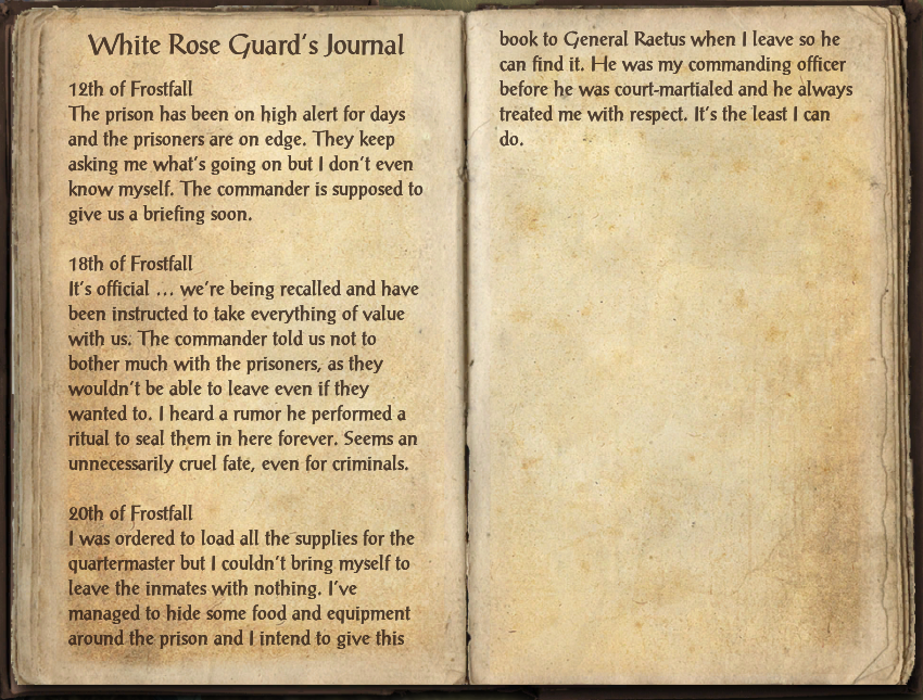 White Rose Guard's Journal