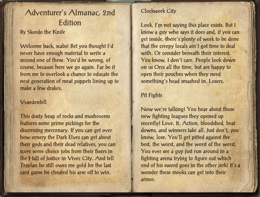 Adventurer's Almanac, 2nd Edition