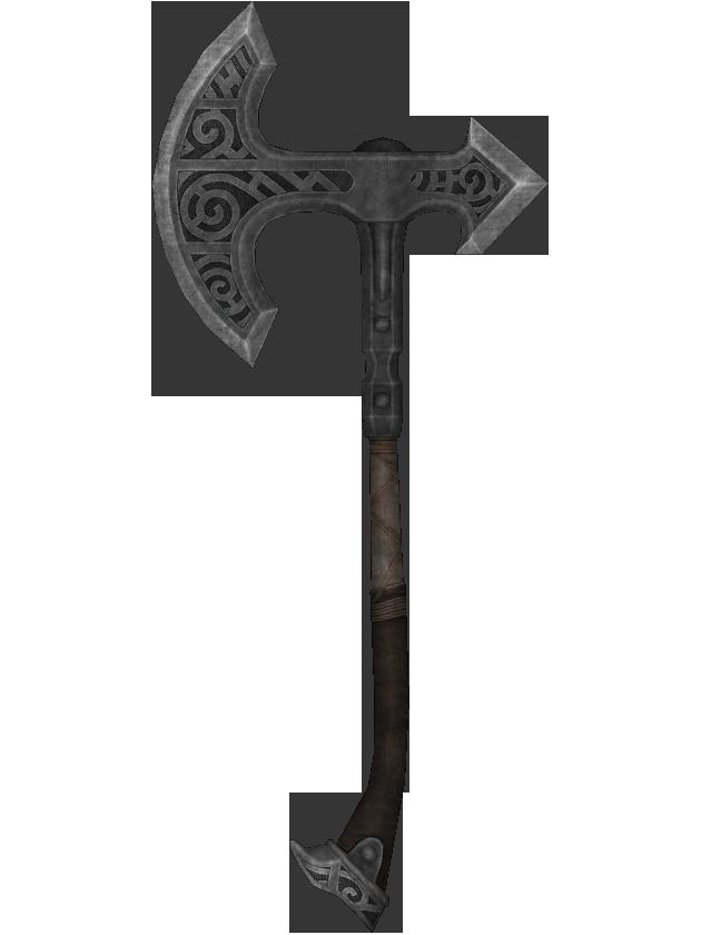 Hacha de guerra de acero (Skyrim)