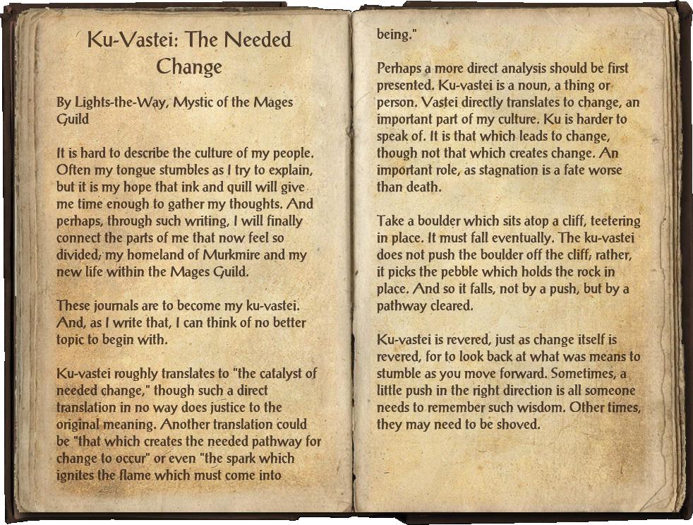 Ku-Vastei: The Needed Change