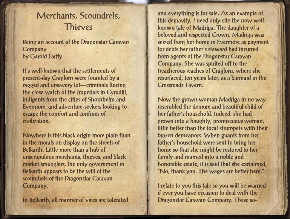 Merchants, Scoundrels, Thieves