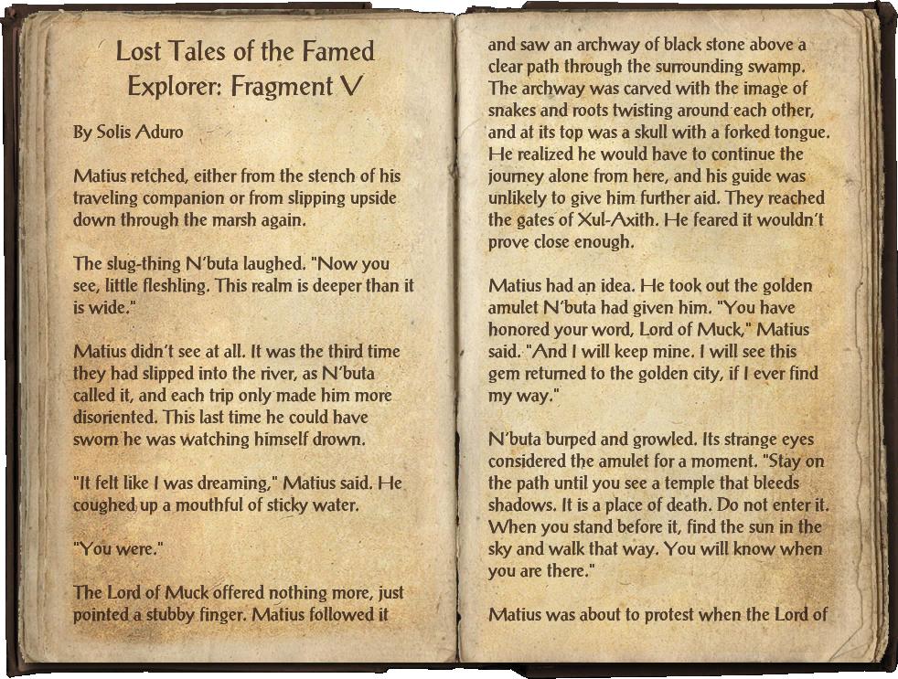 Lost Tales of the Famed Explorer: Fragment V
