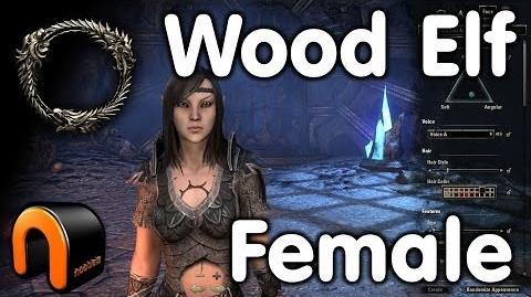 Elder Scrolls Online -- Wood Elf Female - Character Creation