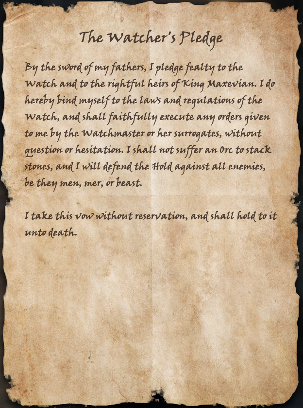 The Watcher's Pledge