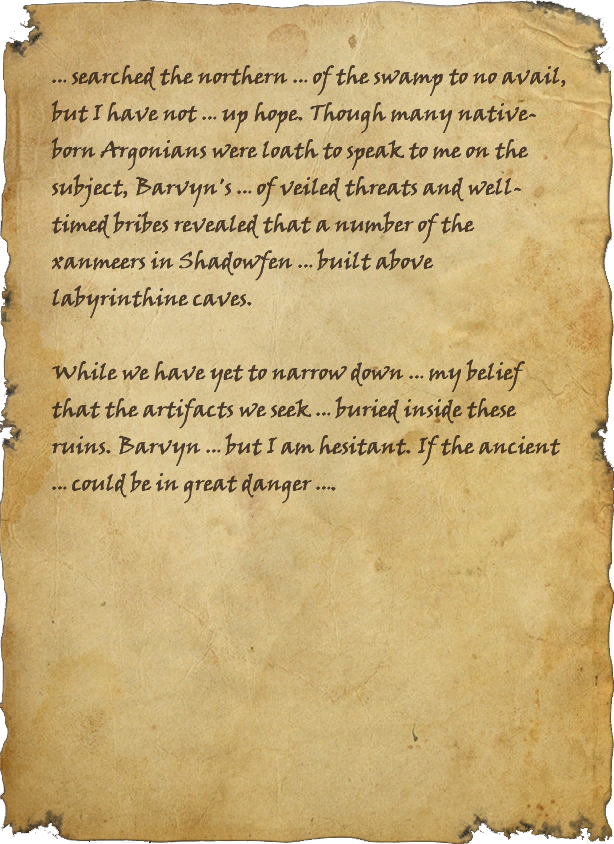 Argonian Journal Pages