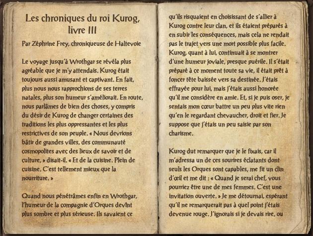 Les chroniques du roi Kurog, livre III