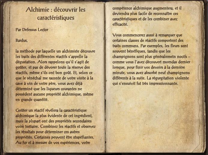 Alchimie : découvrir les caractéristiques