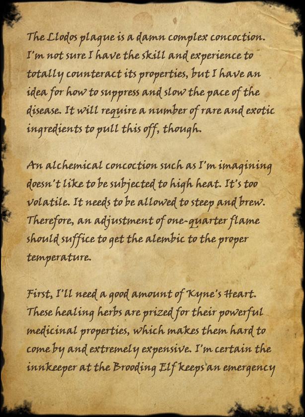 Alchemist Nilyne's Notes
