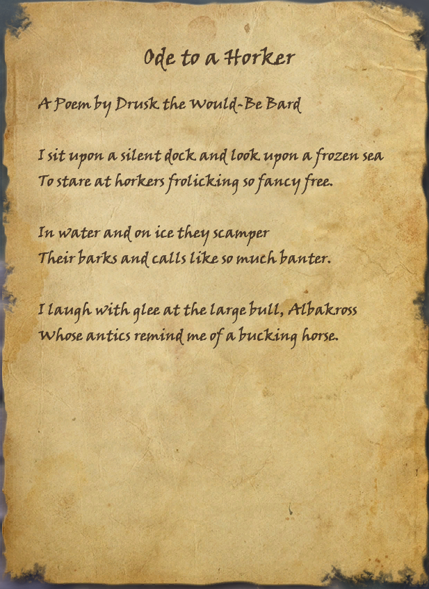 Ode to a Horker