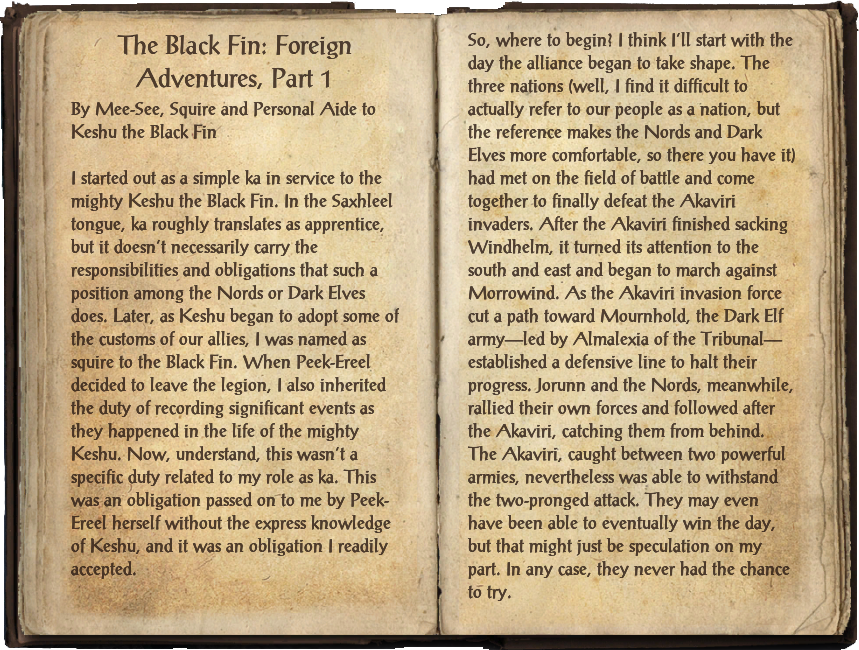 The Black Fin: Foreign Adventures, Part 1