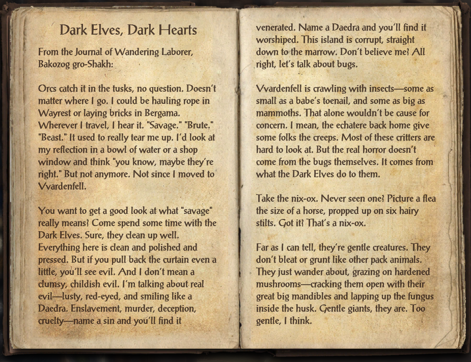 Dark Elves, Dark Hearts