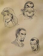 Richton, Iszara, Cyrus i Saban (Conceptart) by John Pearson