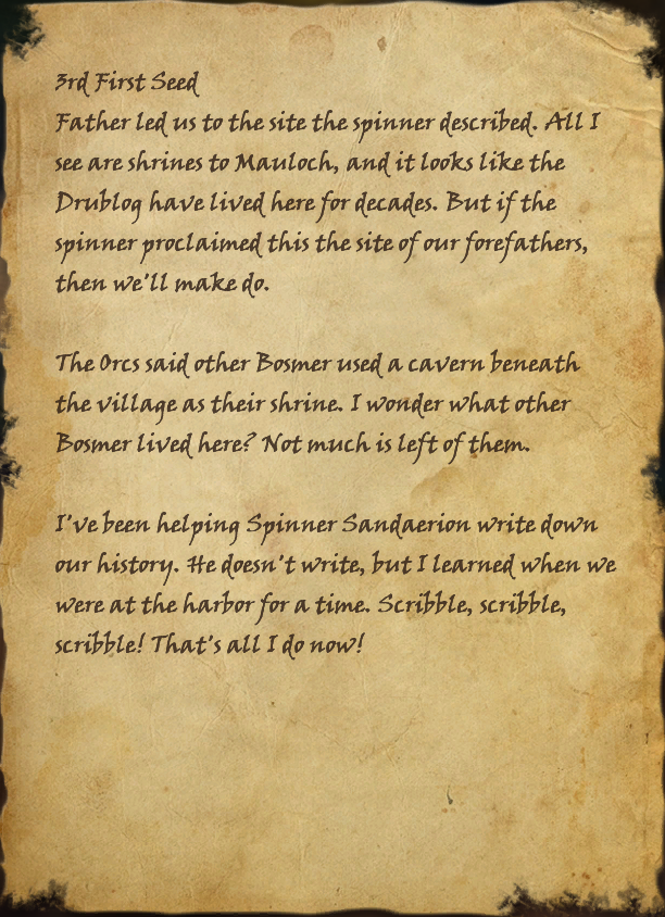 Dalaneth's Journal, Page 1