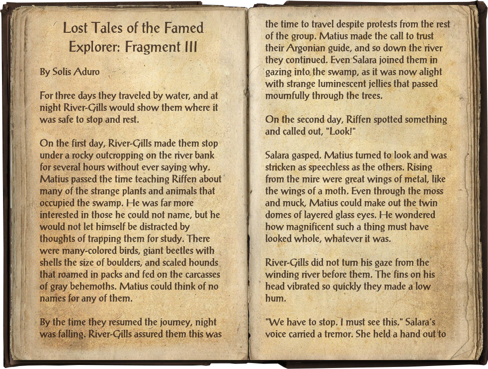 Lost Tales of the Famed Explorer: Fragment III