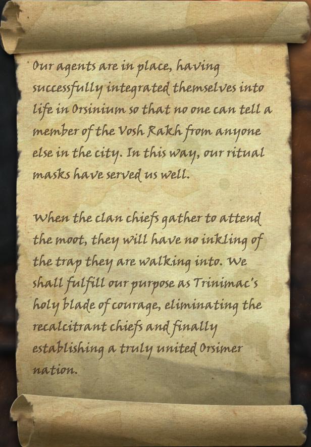 Vosh Rakh Orders