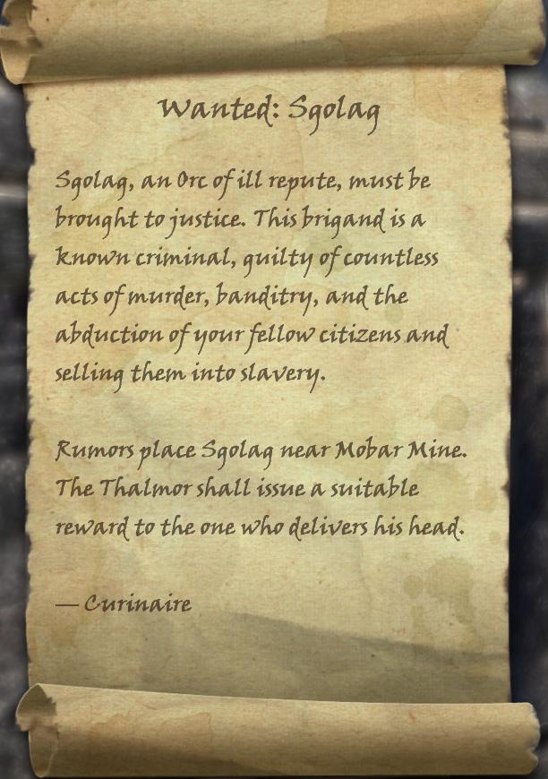 Wanted: Sgolag (Quest)