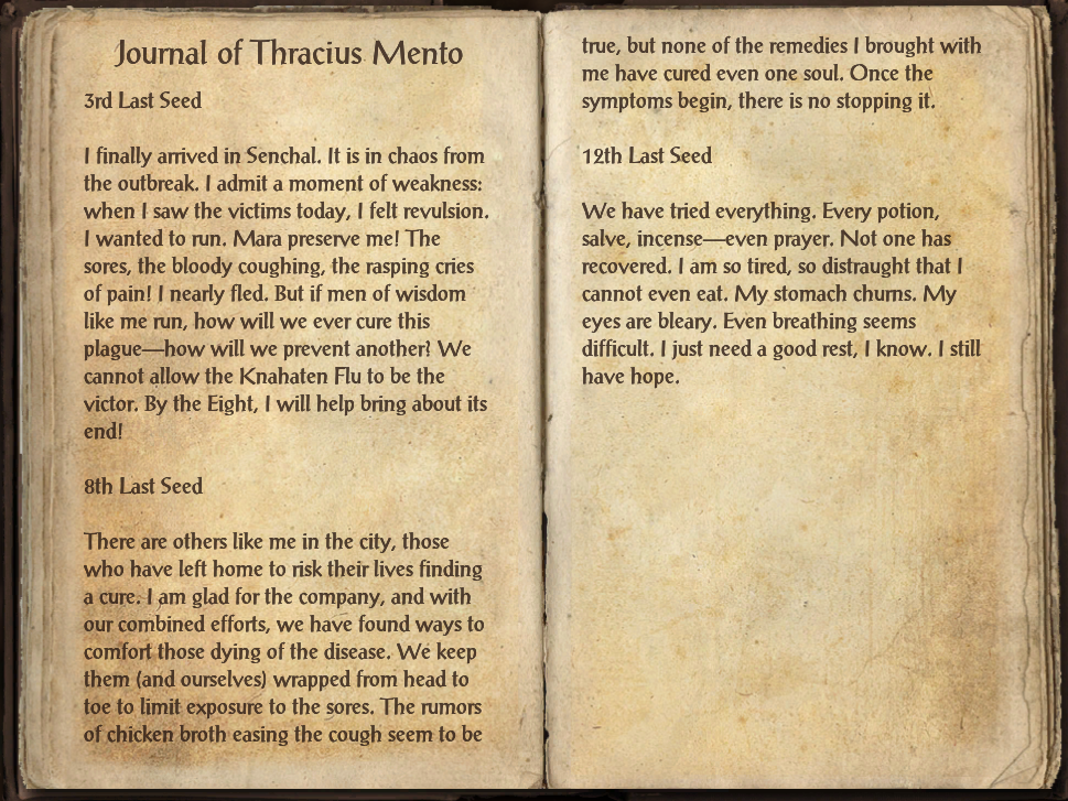 Journal of Thracius Mento